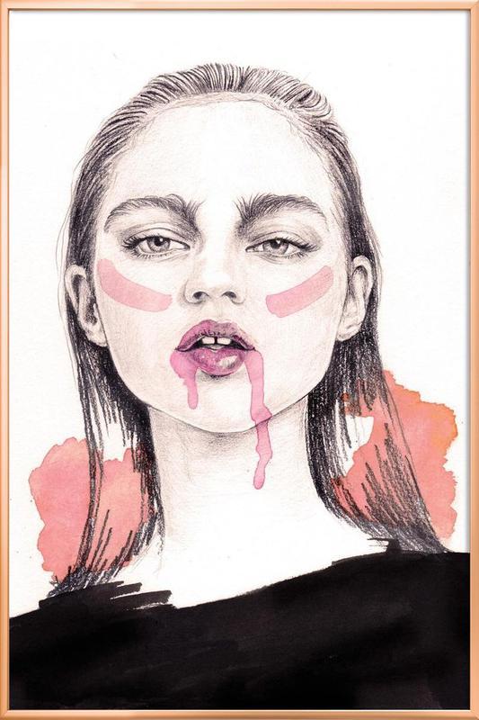 Love Hate Relationship Poster im Alurahmen | Dekoration > Bilder und Rahmen > Poster | Mehrfarbig
