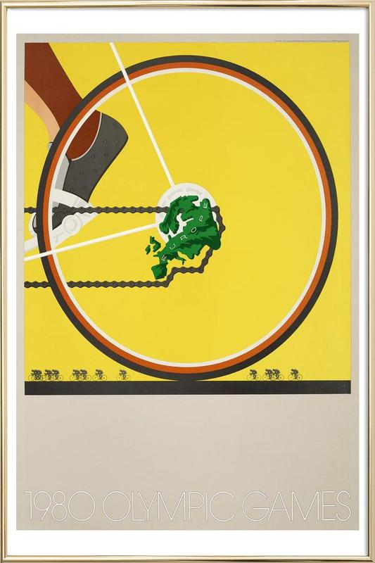 bike1 Poster in Aluminium Frame