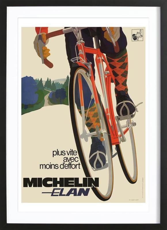 bike7 -Bild mit Holzrahmen