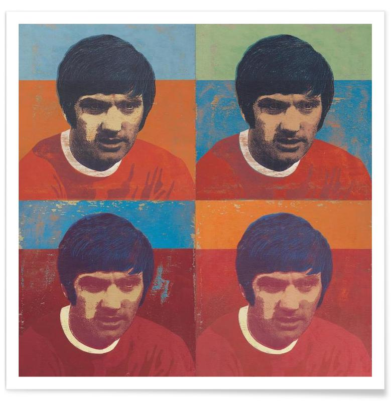 George Best 4 poster