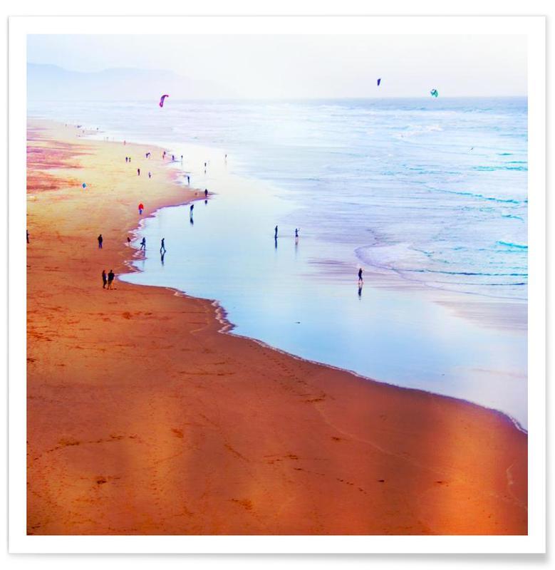 Ocean Beach California Winter poster