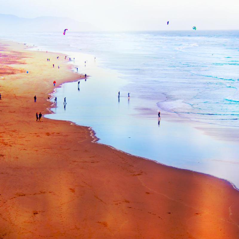 Ocean Beach California Winter alu dibond