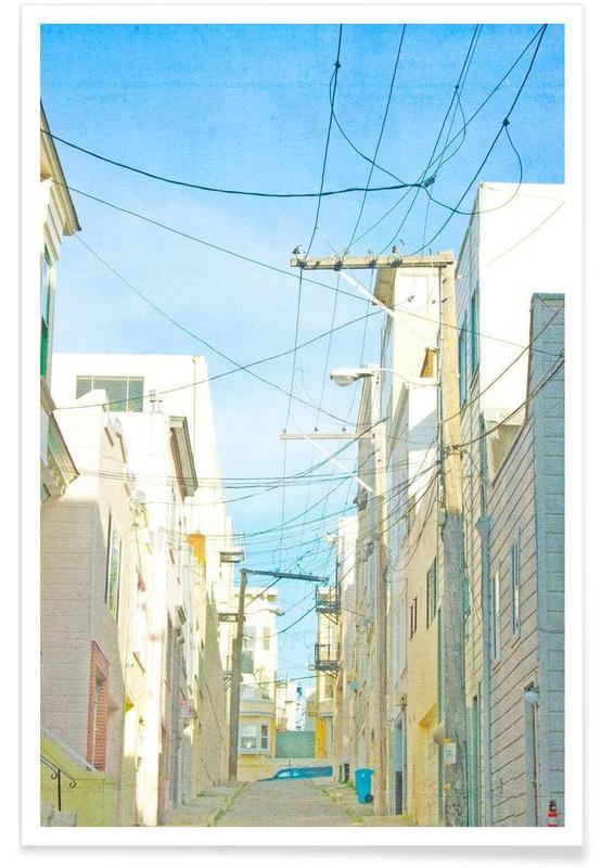 San Francisco Alley Poster