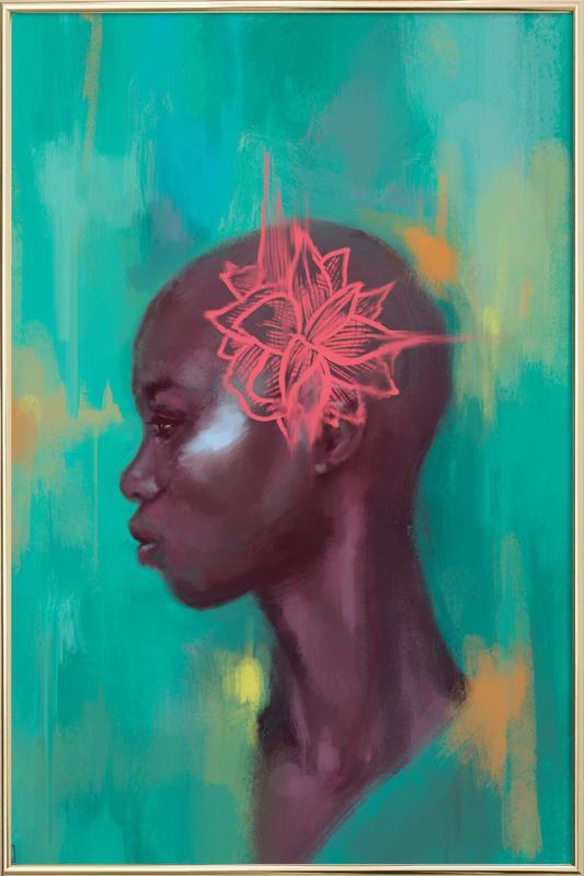 Amaryllis Poster im Alurahmen | Dekoration > Bilder und Rahmen > Poster | Mehrfarbig