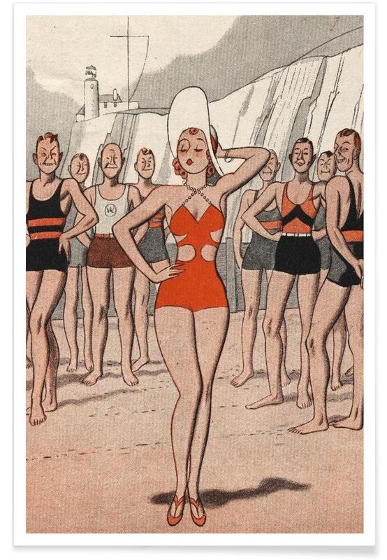 ´30s Beach Lady poster