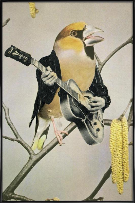 rock chick -Bild mit Kunststoffrahmen