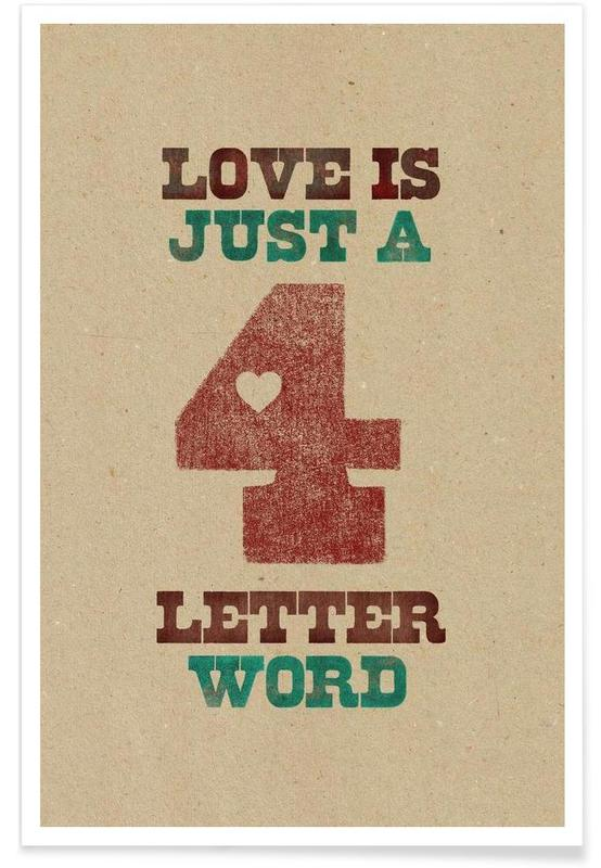 four letter word Poster