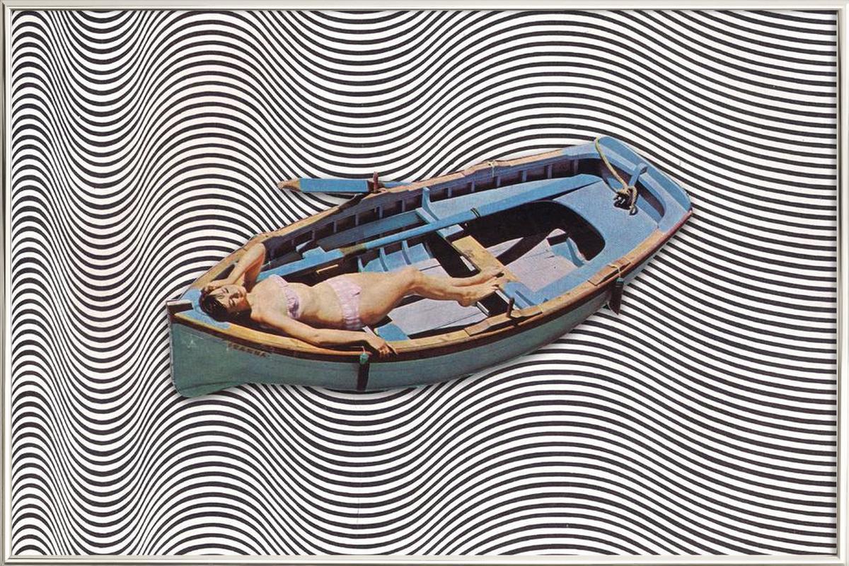 Adrift -Poster im Alurahmen