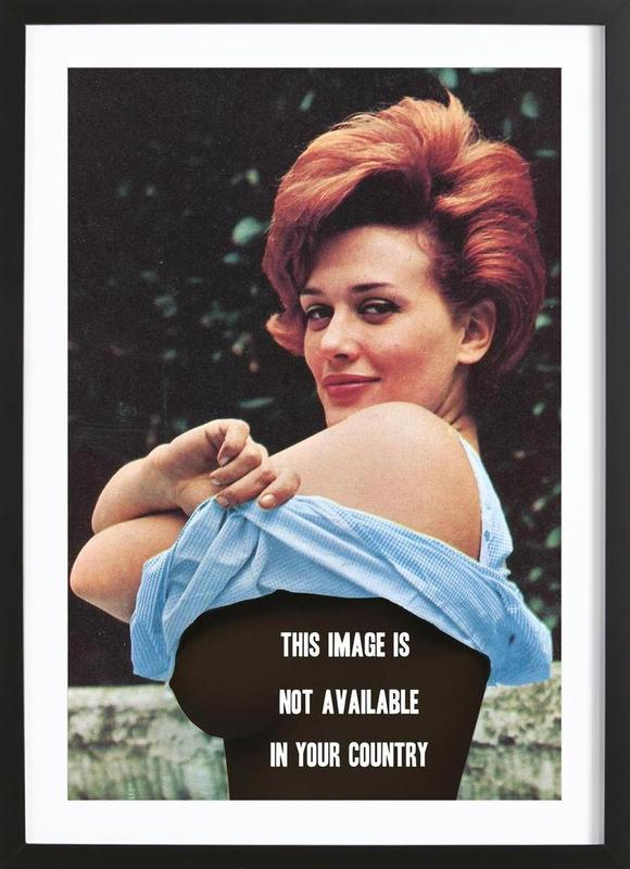 Free the Nipple -Bild mit Holzrahmen
