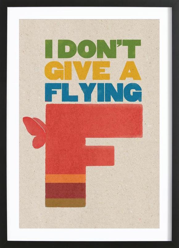 flyingf -Bild mit Holzrahmen