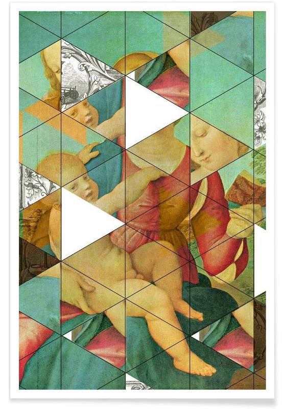 Raphael´s Mother&Child get mixed Poster