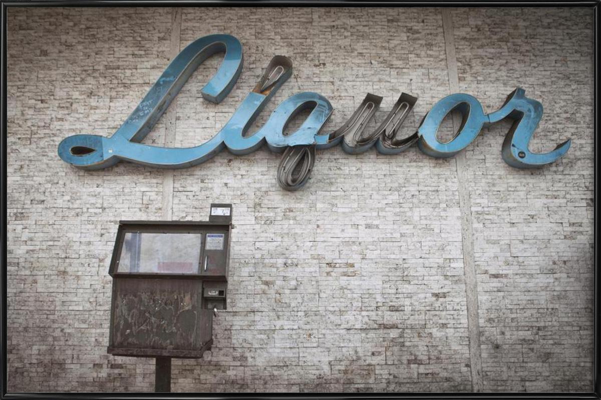 Liquor Sign Framed Poster