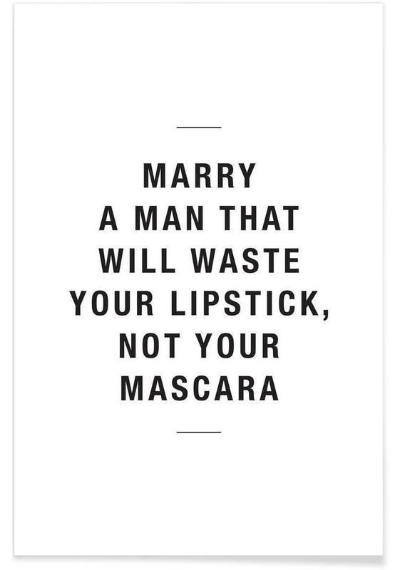 Waste lipstick poster