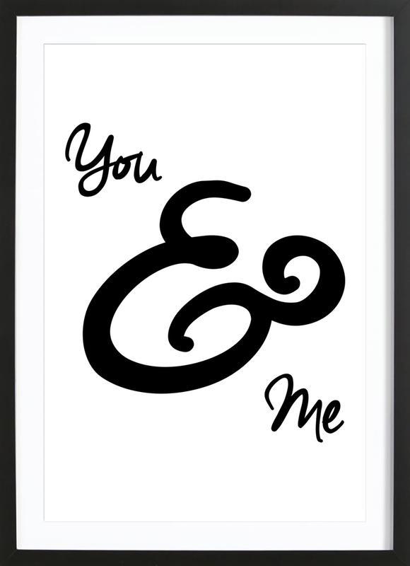 You & Me -Bild mit Holzrahmen