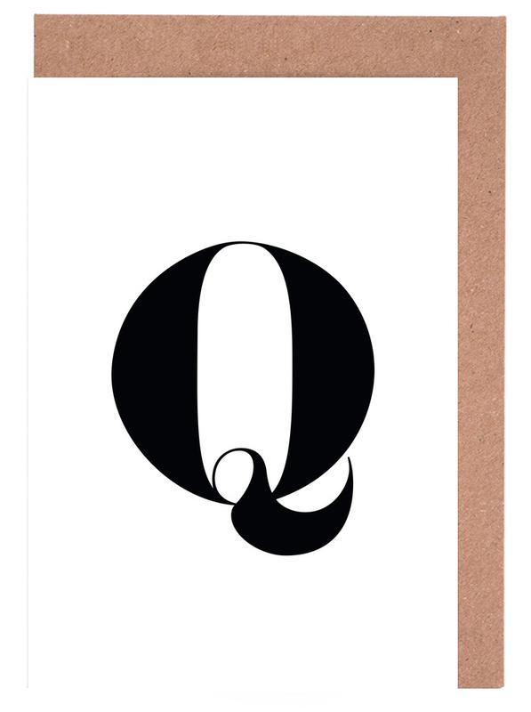Q Greeting Card Set