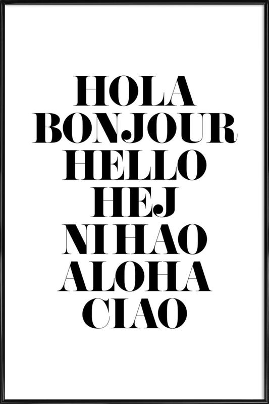 Hellos ingelijste poster