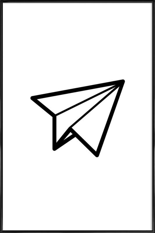 Airplane Gerahmtes Poster