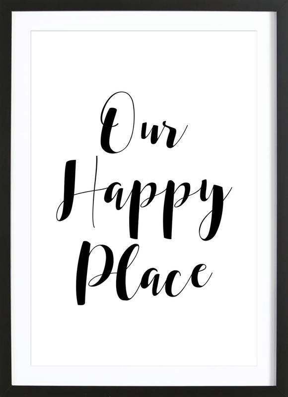 Our Happy Place -Bild mit Holzrahmen
