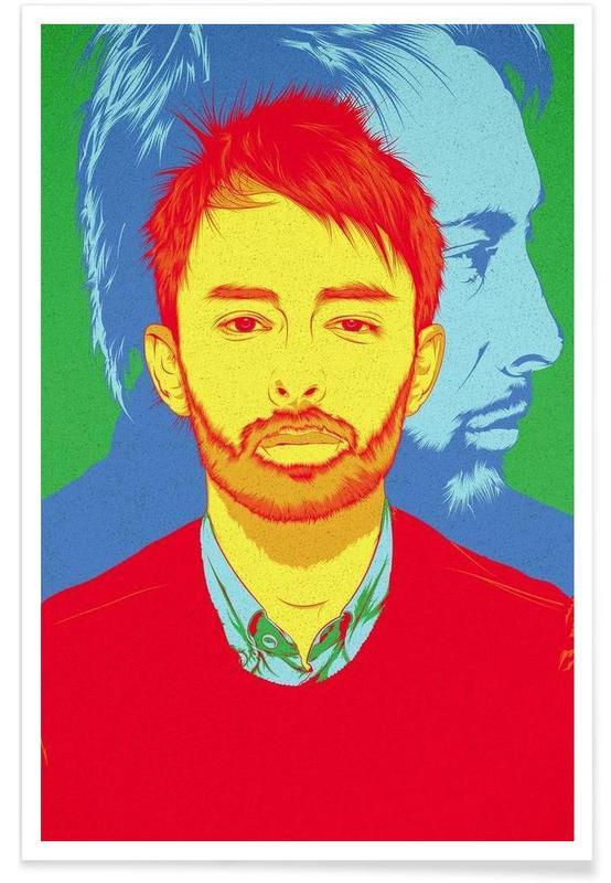 Thom Yorke Rainbow Poster