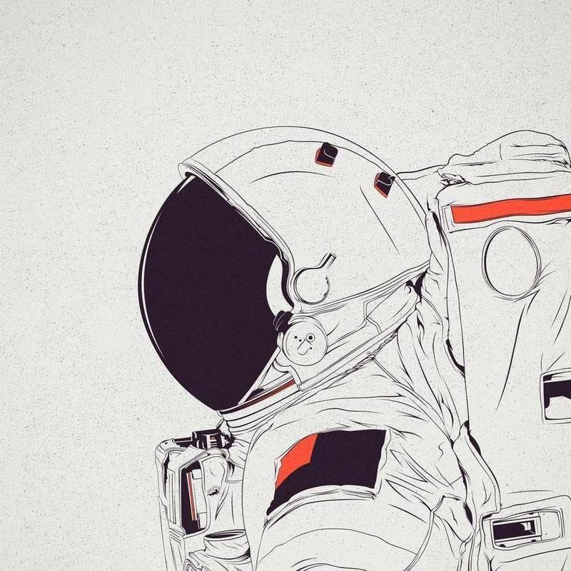 Astro White Canvas Print