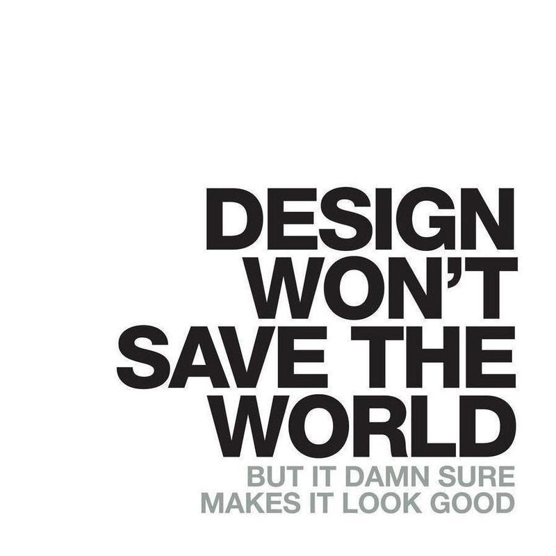 Design Won't Save canvas doek