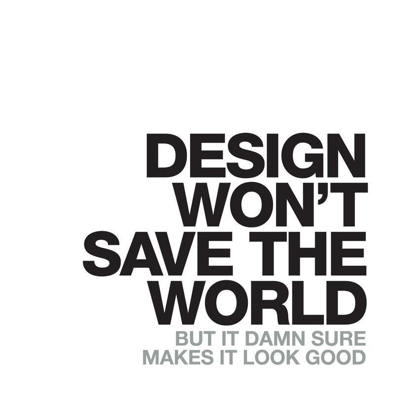 Design Won't Save acrylglas print
