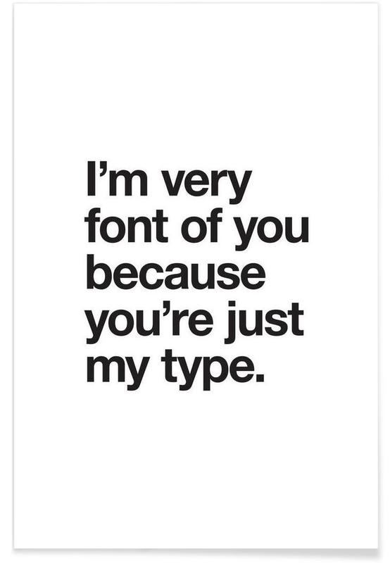 Font Of You Poster