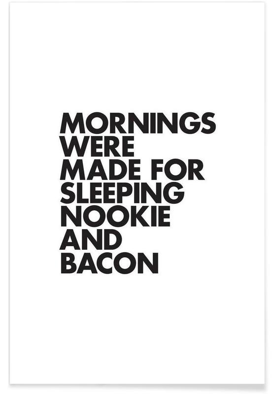 Sleeping Nookie Bacon Poster