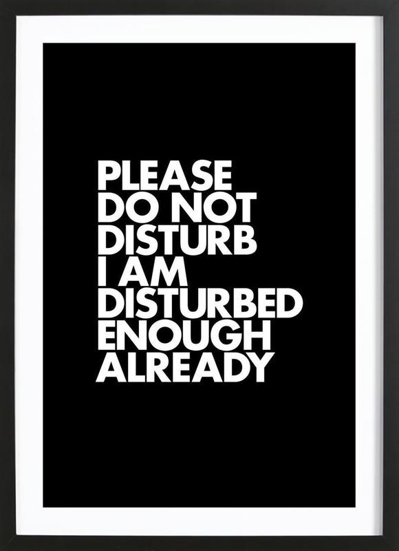 Do Not Disturb White Framed Print