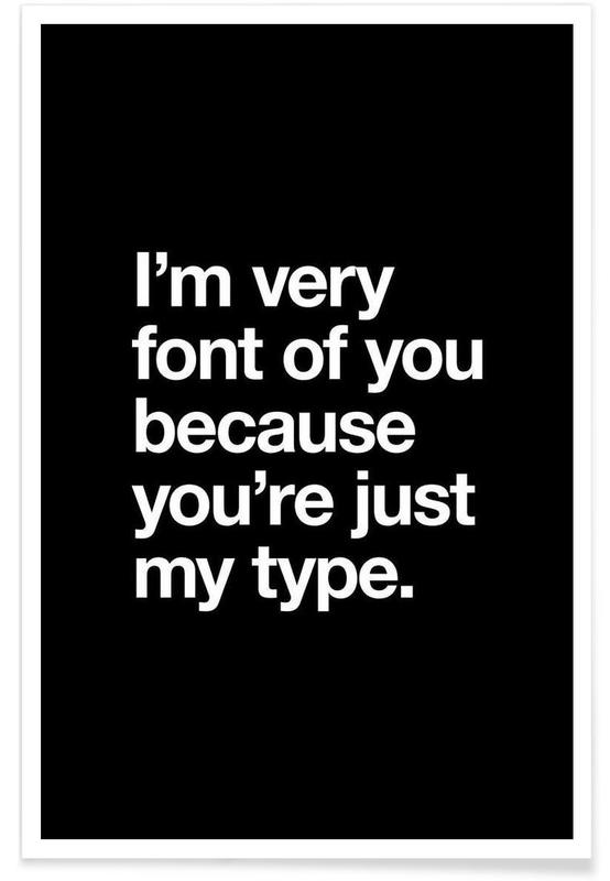 Font Of You White poster