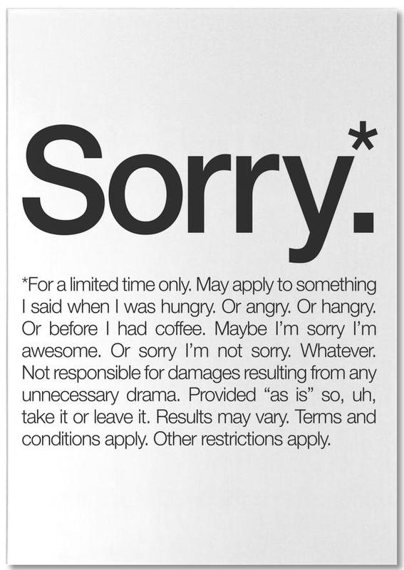 Sorry* (Black) bloc-notes