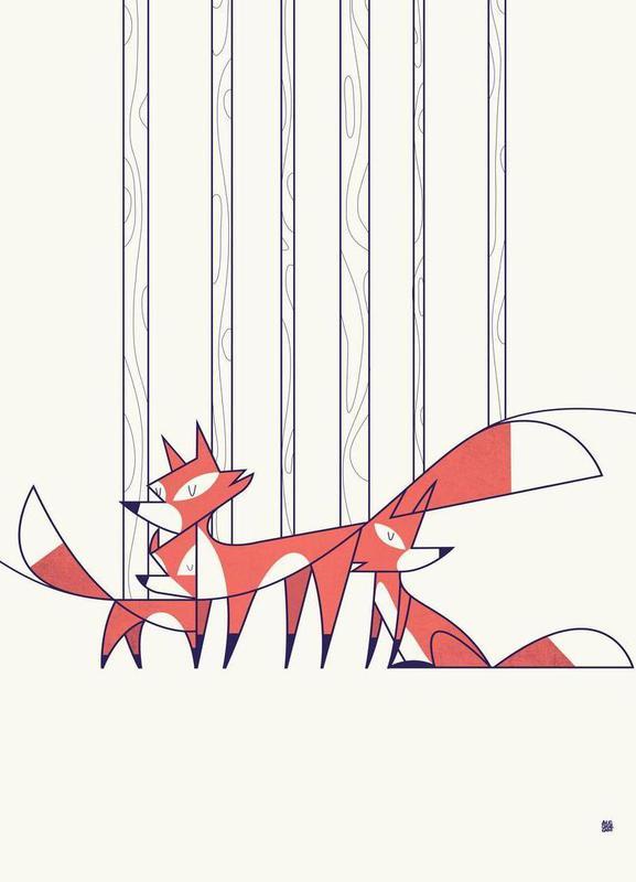 Foxes -Leinwandbild
