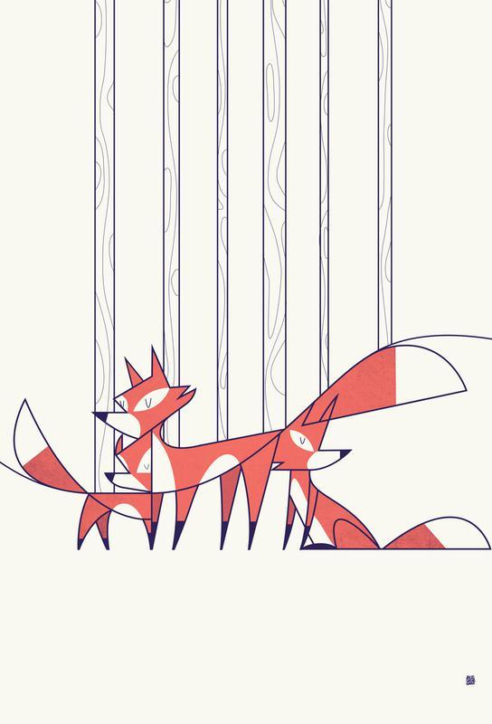 Foxes -Acrylglasbild