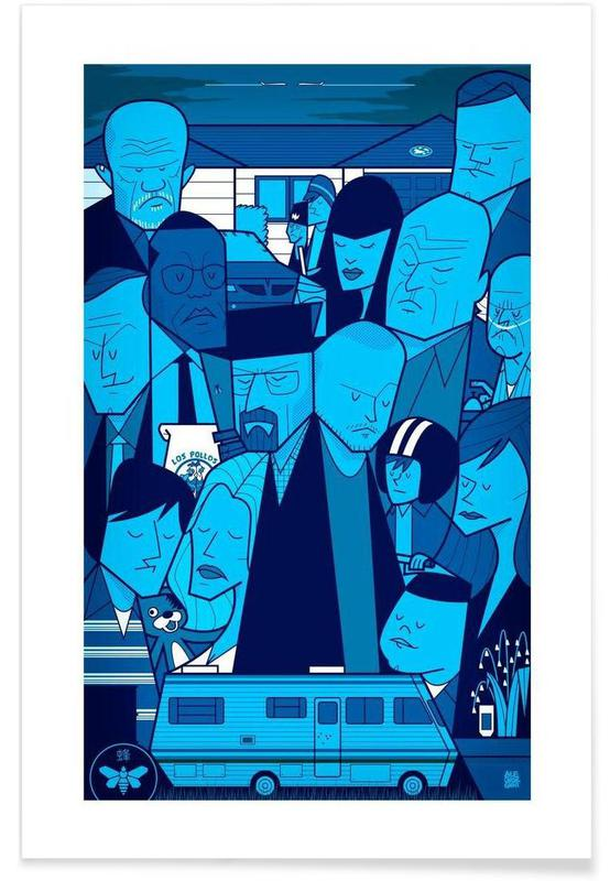 I'm the one who knocks - blue version affiche