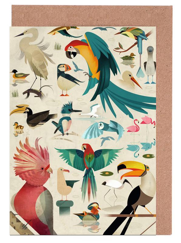 Birds Grußkartenset