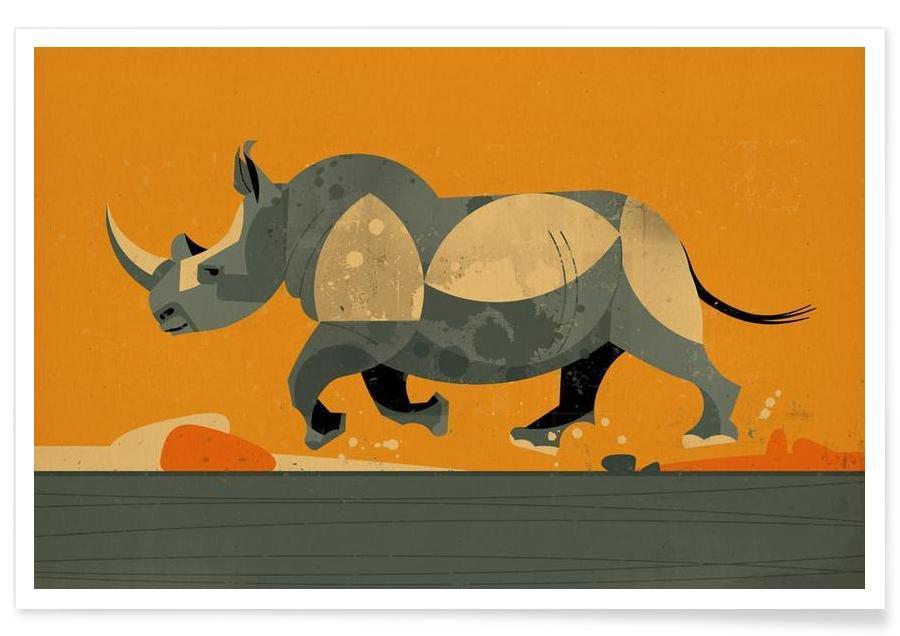 Vintage Rhino Poster