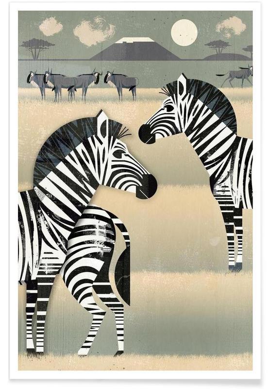 Vintage Zebra Poster