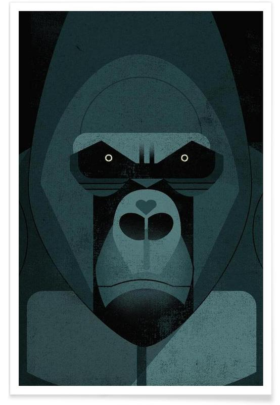 Vintage Gorilla Poster