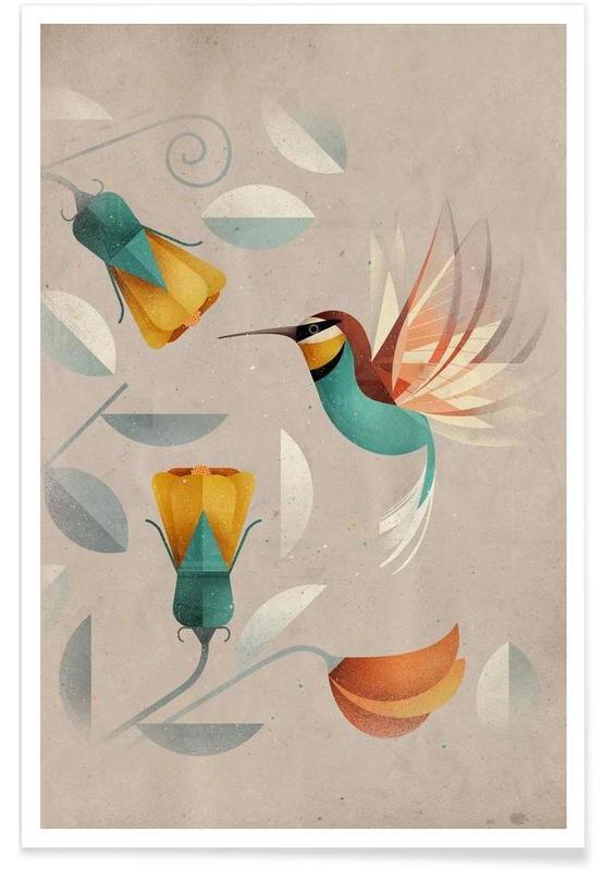Vintage-Kolibri -Poster