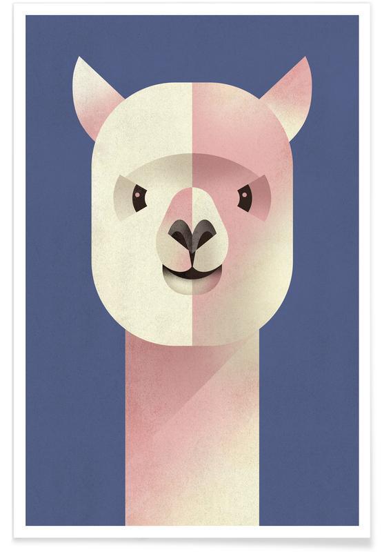 Vintage Alpaca Poster