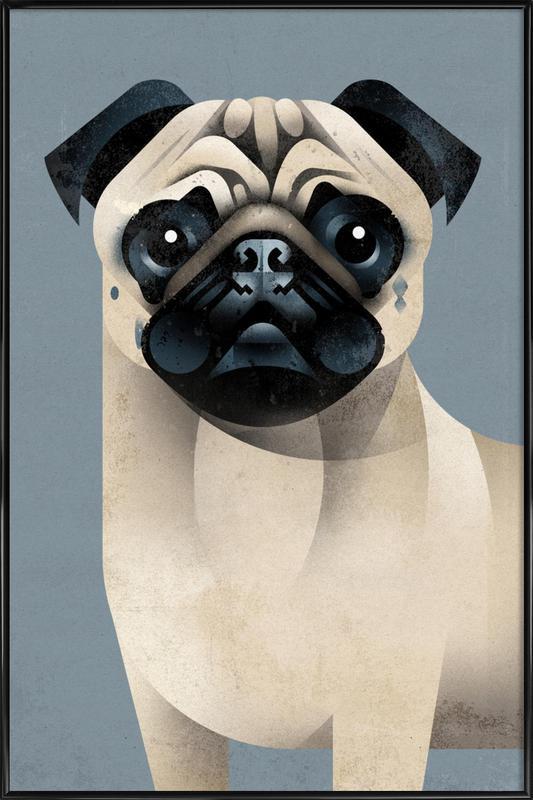 Pug Framed Poster