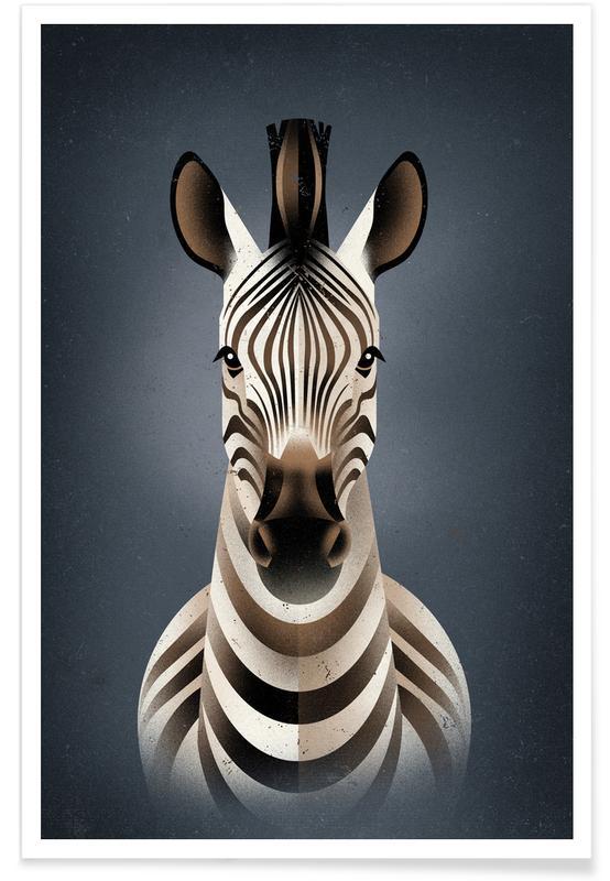 Zebra II poster