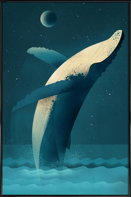 Humpback Whale -Bild mit Kunststoffrahmen
