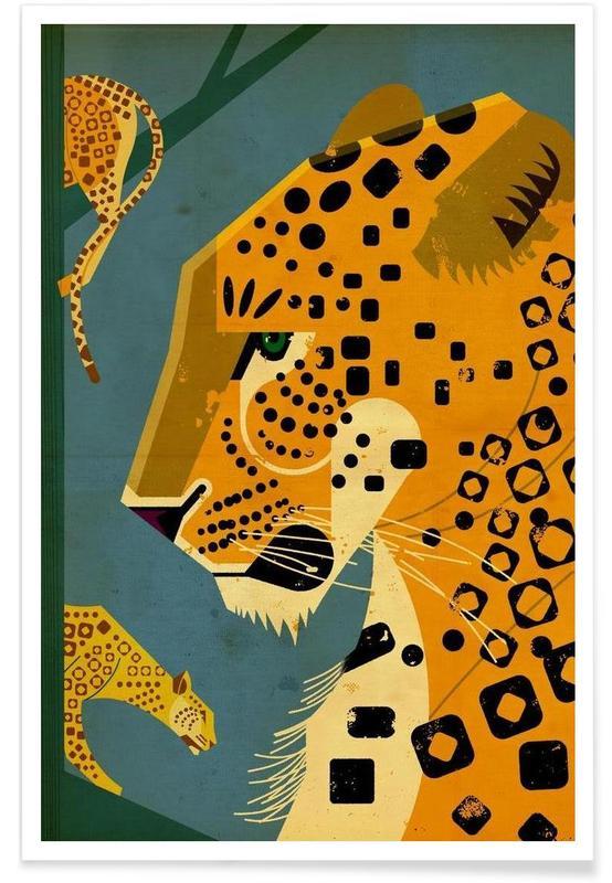 Vintage luipaard poster