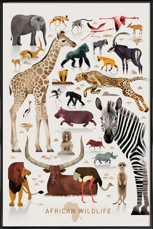 Afrika -Bild mit Kunststoffrahmen