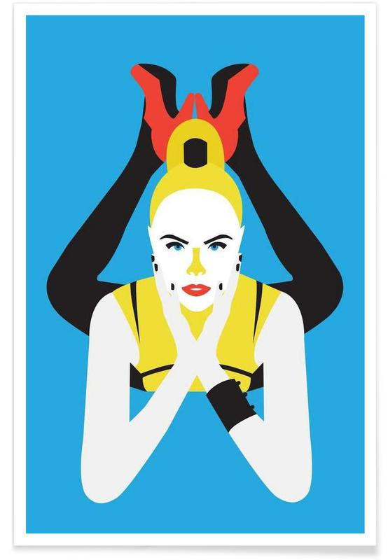 Gala Blue -Poster