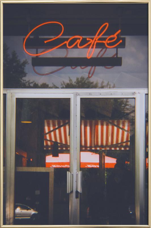 Café Berlin Poster im Alurahmen