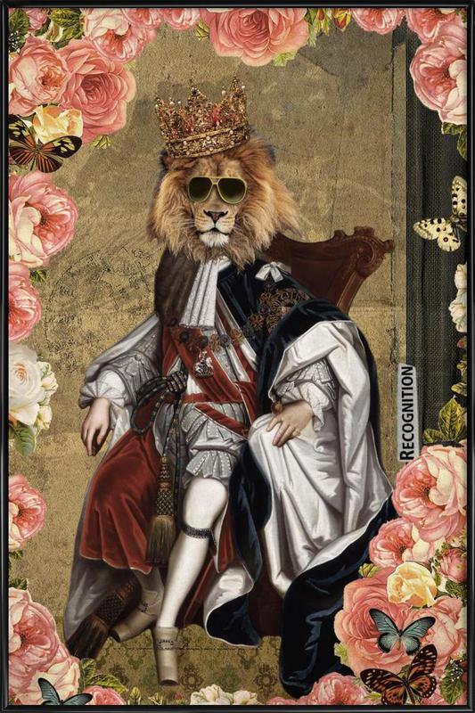 Animals: The King Gerahmtes Poster | Dekoration > Bilder und Rahmen > Poster | Mehrfarbig