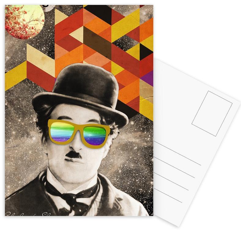 Public Figures: Chaplin -Postkartenset