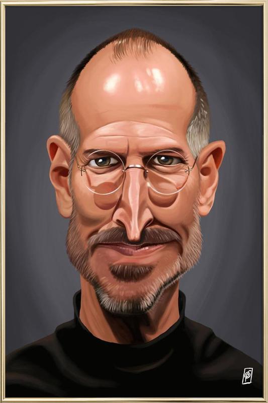 Steve Jobs Poster im Alurahmen